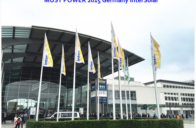 MUST POWER LIMITED Successfully Presented at Germany Munich Intersolar Exhibition 2015