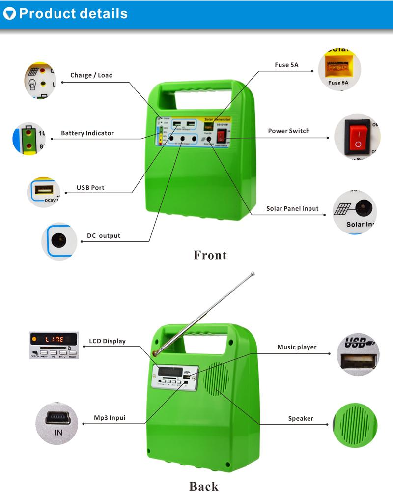 High-efficiency-10w-solar-system-suitcase