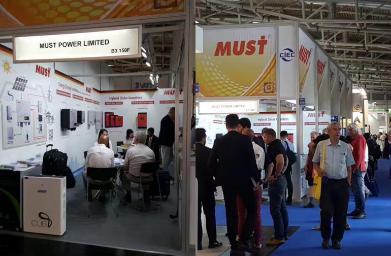 MUST POWER RECEIVED GOOD FEEDBACK FROM MUNICH INTERSOLAR EXHIBITION 2017
