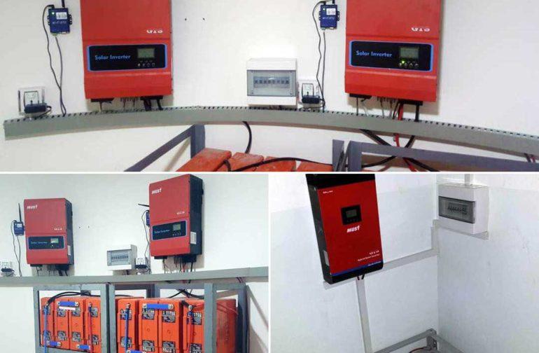 MUST + GTS Yemen solar system installation