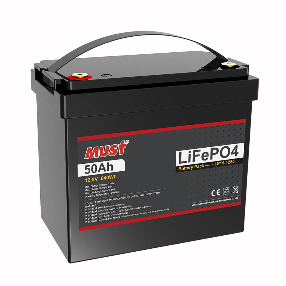 Lithium Iron Phosphate Battery LP15-1250 (12.8V/50Ah)