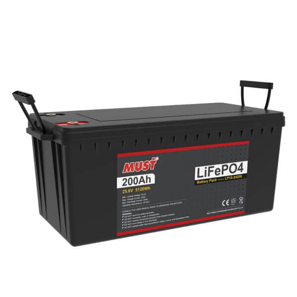 Lithium Iron Phosphate Battery LP15-24200-100 (25.6V/200Ah)